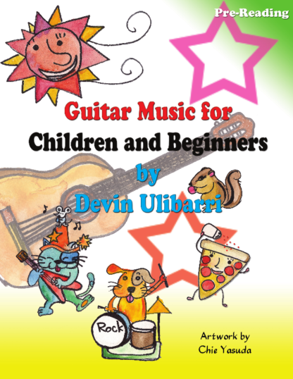 "Image of cover to ""Guitar Music for Children and Beginners"" by Devin Ulibarri"