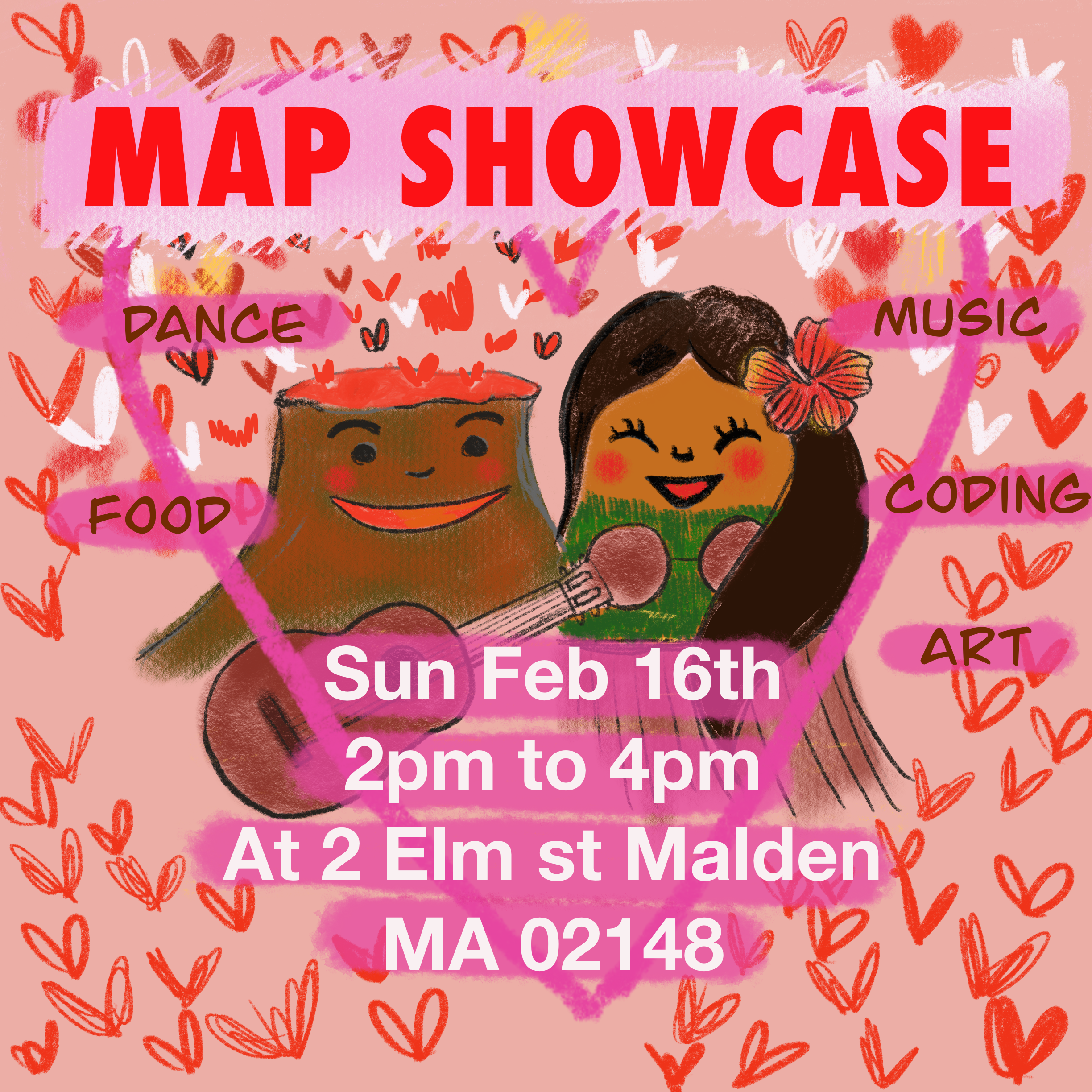 Flier for February Showcase