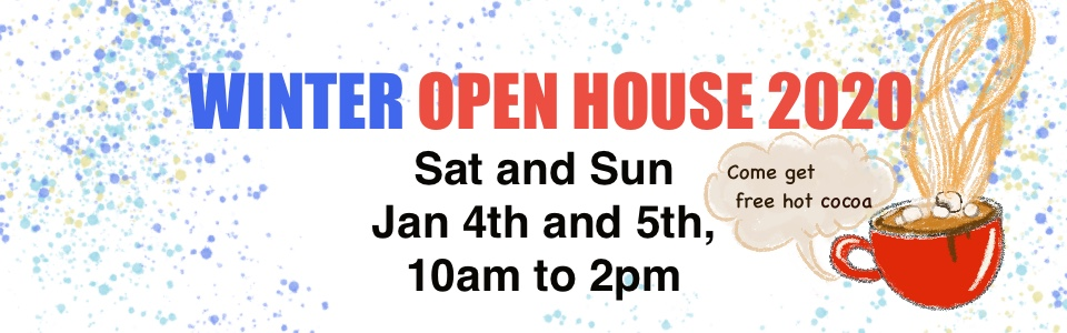 Banner for Open Houses in January 2020
